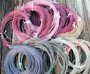 dyed reed for basketry
